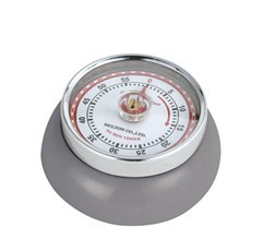 Zassenhaus Timer Speed kookwekker 7 cm metaal cool grey