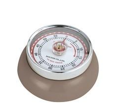 Zassenhaus Timer Speed kookwekker 7 cm metaal taupe