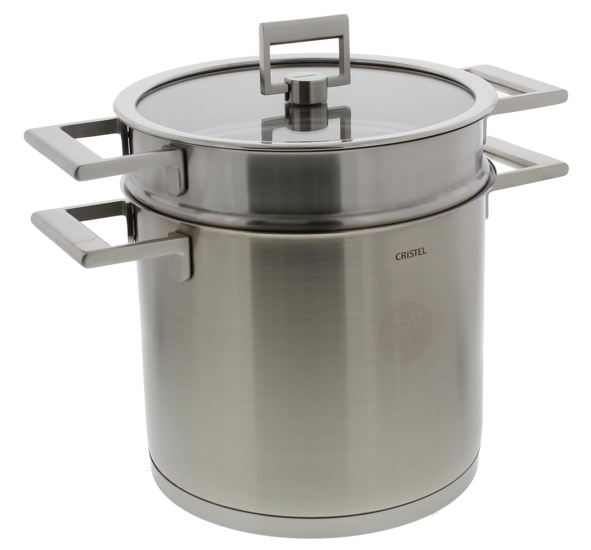Cristel Strate kookpan met pasta-inzet ø 22 cm rvs