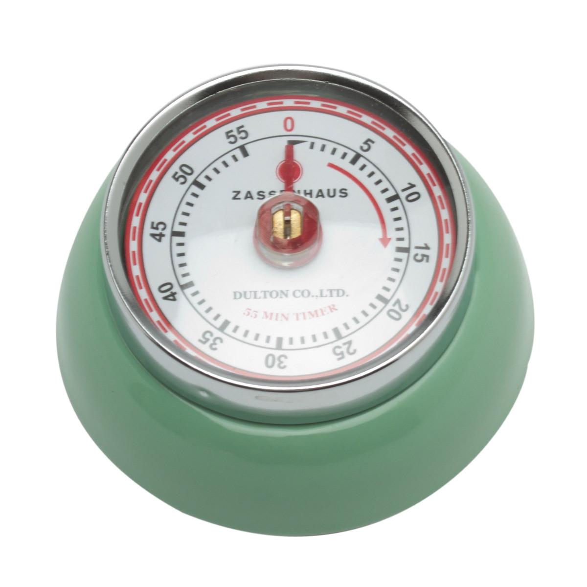 Zassenhaus Timer Speed kookwekker 7 cm metaal mintgroen