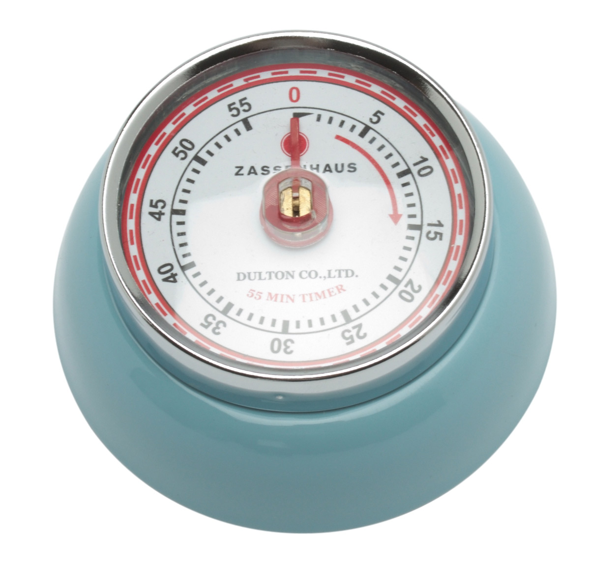 Zassenhaus Timer Speed kookwekker 7 cm metaal lichtblauw