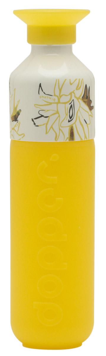4c537ed26c3 De dopper waterfles is gemaakt van bpa vrij wit en geel gerecycled  kunststof en heeft een