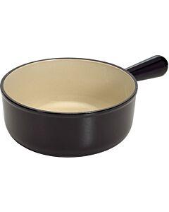 Le Creuset fonduepan ø 18 cm gietijzer matzwart