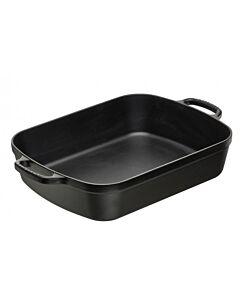 Le Creuset braadslede 6,6 liter 37 cm gietijzer mat zwart