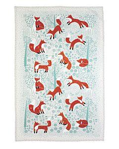 Ulster Weavers Foraging Fox theedoek katoen blauw