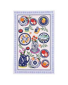 Ulster Weavers Mediterranean Plates theedoek katoen blauw