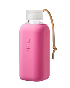 Squireme waterfles 500 ml glas silicone Raspberry Pink