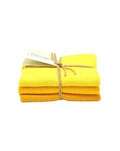 Solwang Design vaatdoekjes 25 x 25 cm katoen geel 3 stuks