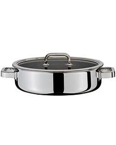 Spring Finesse koekenpan met grepen en glasdeksel ø 28 cm rvs glans
