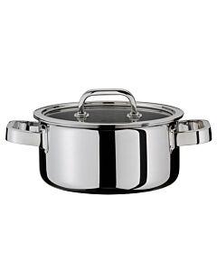 Spring Finesse lage kookpan met glasdeksel ø 24 cm rvs glans