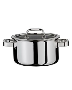 Spring Finesse kookpan met glasdeksel ø 16 cm rvs glans