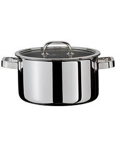 Spring Finesse kookpan met glasdeksel ø 20 cm rvs glans