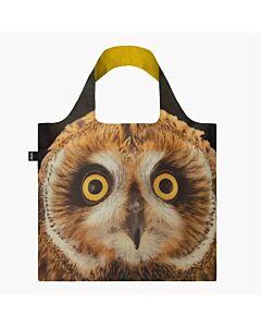 Loqi National Geographic - Short-eared Owl opvouwbaar tasje polyester