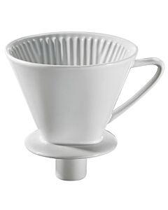 Cilio koffiefilter met mondstuk maat 4 keramiek wit