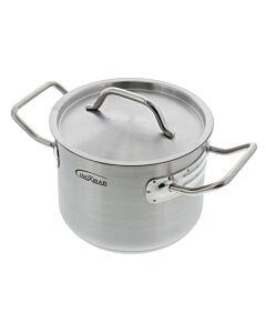 Inoxibar kookpan met deksel ø 16 cm 2,4 L