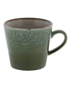 HK Living 70's cappuccinomok 300 ml aardewerk groen