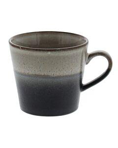 HK Living 70's cappuccinomok 300 ml aardewerk crème-zwart