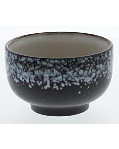 HK Living 70's kom ø 13,5 cm aardewerk zwart blauw