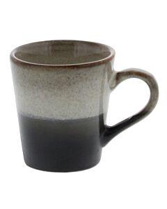 HK Living 70's espressomok 80 ml aardewerk crème-zwart