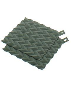 RIG-TIG by Stelton Hold-On pannenlappen vierkant 19 cm silicone groen 2 stuks