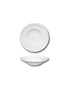 Oldenhof Napoli pastabord ø 23 cm aardewerk wit