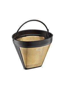 Cilio permanentfilter voor koffie Maat 2 goudkleurig