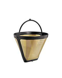 Cilio permanentfilter voor koffie Maat 4 goudkleurig
