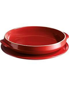 Emile Henry tarte tatinset ø 28 cm aardewerk rood