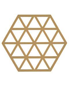 Zone Denmark Triangles onderzetter 16 x 14 cm silicone licht kaki