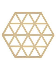 Zone Denmark Triangles onderzetter 16 x 14 cm silicone licht zandkleur