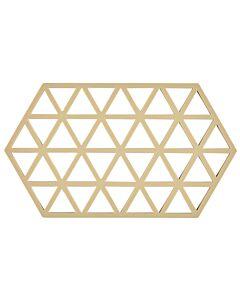 Zone Denmark Triangles onderzetter 24 x 14 cm silicone lichte zandkleur