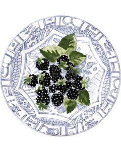 Gien Oiseau Bleu Fruits Mûres dessertbord ø 22 cm keramiek