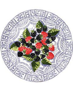Gien Oiseau Bleu Fruits taartplateau ø 30 cm keramiek