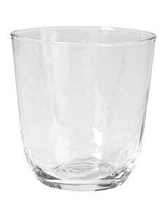 Broste Copenhagen Hammered tumbler 335 ml ø 9,2 cm h 9,5 cm glas transparant