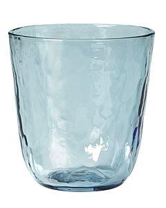 Broste Copenhagen Hammered tumbler 335 ml ø 9,2 cm h 9,5 cm glas blauw