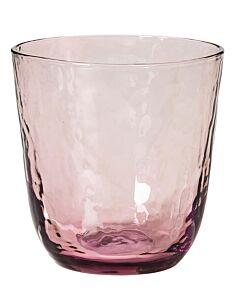 Broste Copenhagen Hammered tumbler 335 ml ø 9,2 cm h 9,5 cm glas paars