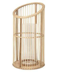 Broste Copenhagen Sofie lantaarn ø 23 cm h 44 cm bamboe-glas