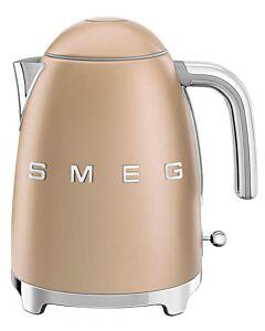 SMEG 50's style waterkoker 1,7 liter mat champagne