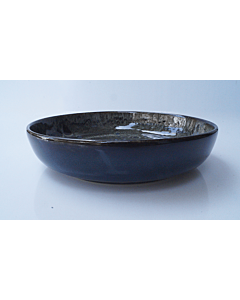 Oldenhof 1821 soepbord ø 18 cm aardewerk spikkelblauw