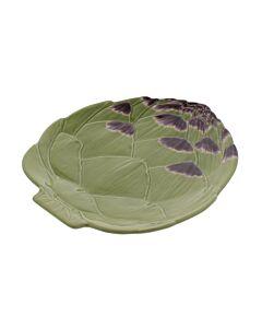 Oldenhof Artisjok dinerbord  31,5 cm aardewerk groen