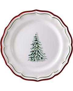 Gien Filet Noël dessertbord ø 23,2 cm keramiek