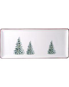 Gien Filet Noël rechthoekige serveerschaal 36 x 15,5 cm keramiek