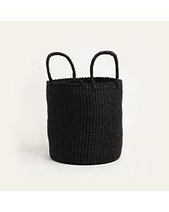 Oldenhof Laundry Basket mand 36 x 40 cm stro zwart