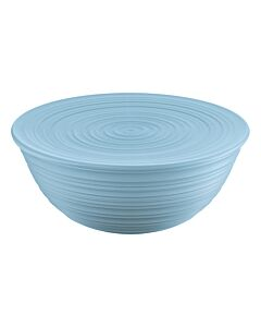 Guzzini Tierra XL schaal met deksel ø 30 cm kunststof Powder Blue