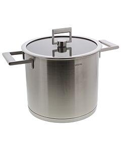 Cristel Strate soeppan met glasdeksel ø 22 cm rvs