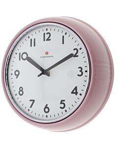 Zassenhaus Retro klok ø 24 cm staal roze