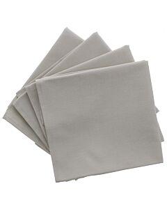 De Witte Lietaer servetten 50 x 50 cm katoen pearl 4 stuks