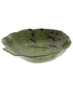 Oldenhof Artisjok pastakom 35,5 cm aardewerk groen