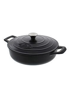 La Cuisine lage braadpan rond 3,5L Ø 28 cm gietijzer mat zwart