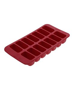 Lékué ijsblokjesvorm rechthoeken 14 ijsblokjes silicone rood